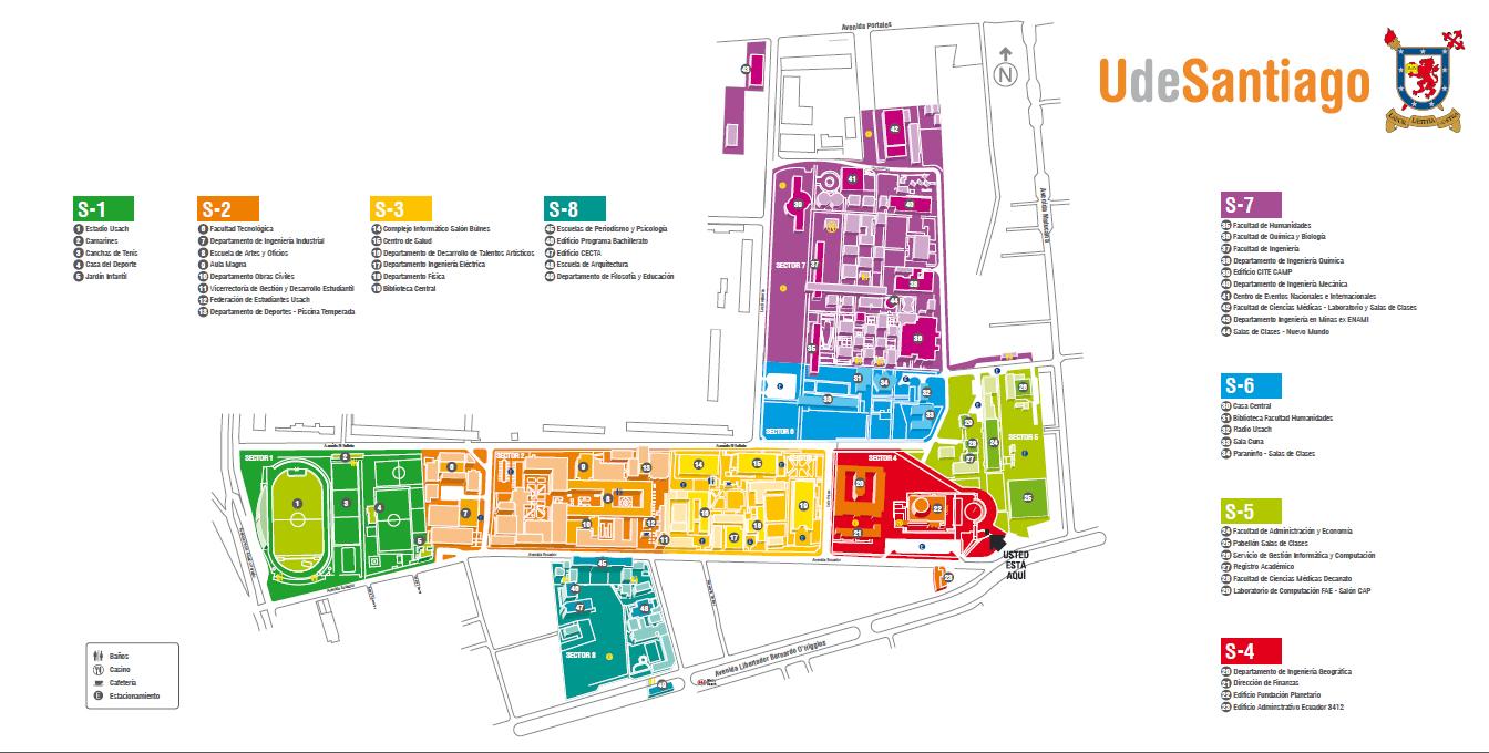 C mo llegar departamento de ingenier a en obras civiles for Mapa facultad de arquitectura
